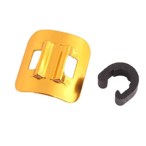 LA TALUS Bicycle C-Clips Clamps, Road Bicycle Mountain Bike Tubing Fixing Seat, Housing Hose Guide Clamps, for Brake Derailleur Shift Cables for Brake Derailleur Shift Cables Golden