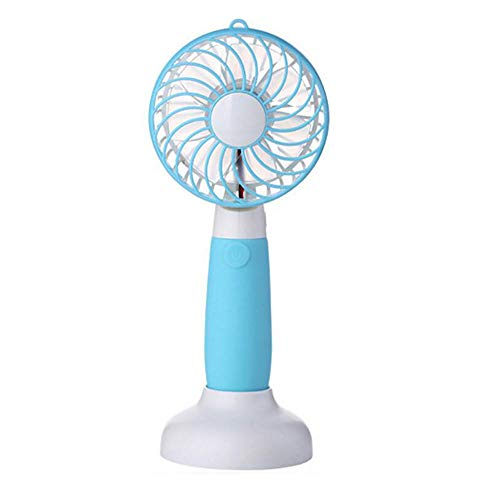 Draagbare mini-ventilator, draagbaar, met accu, oplaadbaar, voor thuis, op kantoor, winkelen, op reis, 3 kleuren