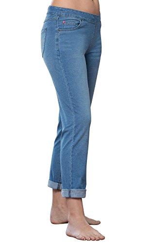 PajamaJeans Women Pull On Jeans - Womens Boyfriend Jeans, Bermuda, XL