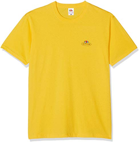 Fruit of the Loom Herren 011036 T-Shirt, Gelb (Sonnenblumengelb 34), Medium