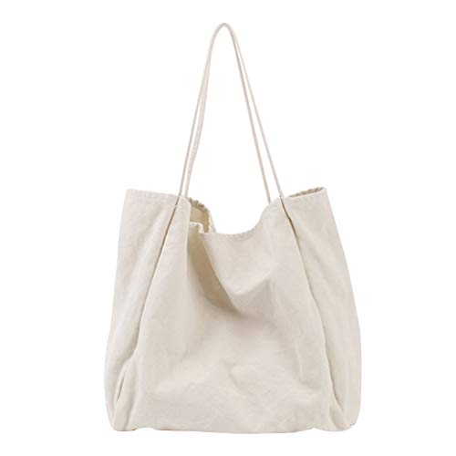 FENICAL Tote Bag Canvas Large Capacity Shoulder Bag Simple Work Tote for Women Lady...