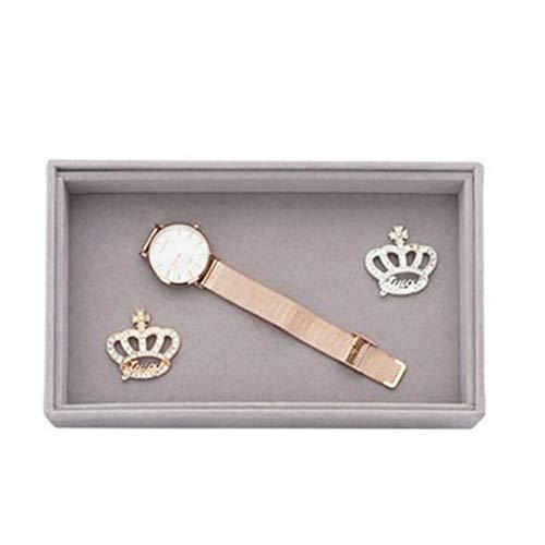 Organizador de maquillaje DIY nuevo cajón de almacenamiento de joyas pequeño tamaño bandeja organizador de joyas bandeja anillo pulsera caja de regalo organizador de joyas titular (color: D)