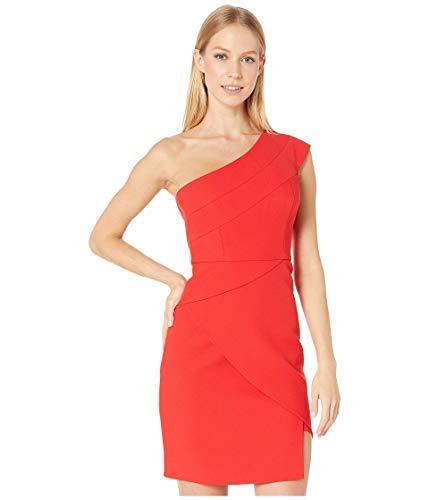 BCBGMAXAZRIA Vestido de cóctel de un solo hombro para mujer - Rojo - 36