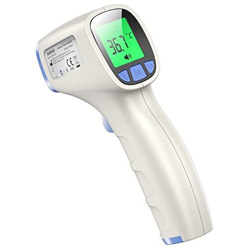JUMPER FR202 Termometro Digitale senza Contatto - Termometro Bambino Professionale a Infrarossi con Lettura Immediata, Allarme Febbre - Adatto per Neonati, Bambini, Adulti (Blu)