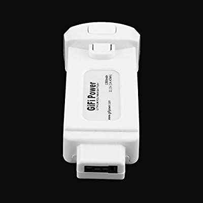Elviray 1 Pc Lightweight & Compact 11.1V 1300mAh 14.43Wh Replacement Lithium Polymer Battery for Yuneec Breeze for Flying Camera Drone