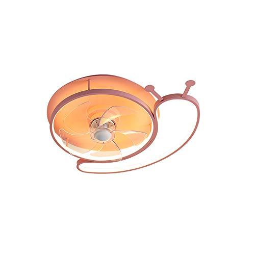 CAGYMJ Ventilador De Luz con Iluminación De Techo LED Velocidad del Viento Ajustable Control Remoto Ultra Silencioso Ventilador Temporizador Candelabro Luz del Ventilador del Dormitorio,Rosado
