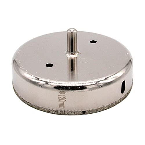 Brocas de sierra con revestimiento de diamante para taladro de vidrio de diamante, herramienta para azulejos de cerámica de vidrio, mármol y porcelana (120 mm)