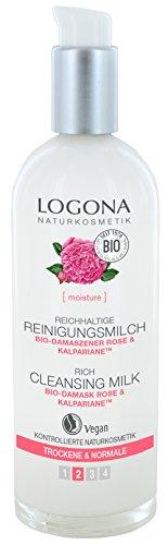 Logona cosmetico naturale ricco Latte Detergente, pulisce porentief & è particolarmente delicato sulla pelle, vegan, 125ML