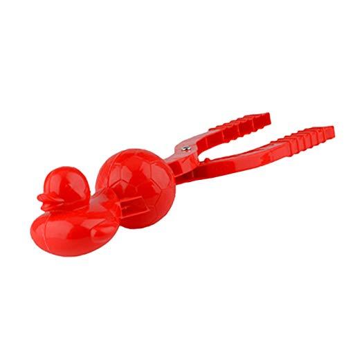 LoveLeiter Herz Schneeball Maker Schneeball-Hersteller, Ente,Kunststoff Schneeball Clip Zange Schnee Spielzeug Schneeballformer Schneeballzange Schneebälle Schneeballmacher für Kinder Erwachsene