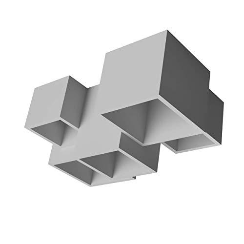 Faretti in gesso/plafoniera/lampada a soffitto moderno da esterno a 5 cubi in gesso ceramico VERNICIABILE design lampada gu10x5 csf5000