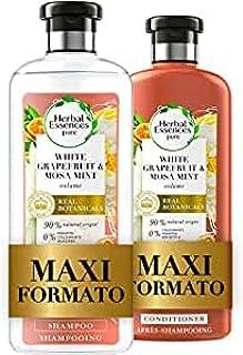 Herbal Essences Pompelmo Bianco e Menta di Mosa: Shampoo 400 ml + Balsamo 360 ml, Dona Volume ai Capelli, in Collaborazion...