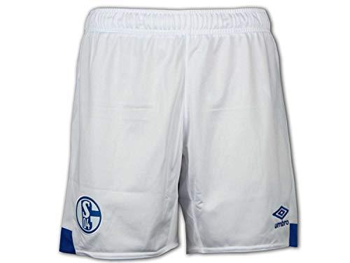 UMBRO Kinder FC Schalke 04 Shorts Heim 2018/2019, weiß/blau, 152-YL