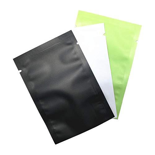 Coner 100Pcs Matte Glossy Flat Open Top Aluminiumfoliezak Vacuüm Heat Seal Verpakkingszakken Voedsel Koffie Thee Mylar Foliezak, 12x18cm, Matwit