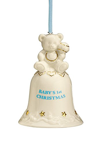 HOLIDAY PEAK Babys First Christmas Bell Ornament