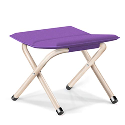 Chaises pliantes Jardin et Patio Tabouret de pêche pliant tabouret chaise de loisirs en plein air pêche épaisse chaise tabouret pliant chaise de camping portable ( Color : Purple , Size : 35*30*33cm )