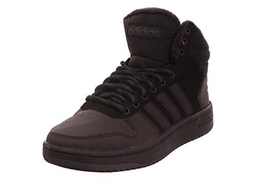 adidas Hoops 2.0 Mid Zapatos de Baloncesto Hombre, Negro (Cblack/Cblack/Carbon Cblack/Cblack/Carbon), 37 1/3 EU (4.5 UK)