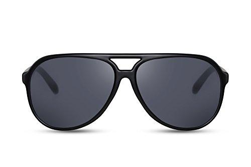 Cheapass Gafas de Sol Grandes Modernas Cristales Mate Ahumados Montura Negra Para Chicos y Hombres. Protección UV400