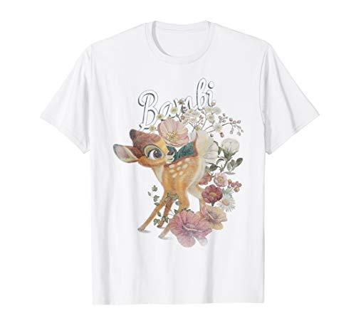 Disney Bambi Floral Portrait T-Shirt