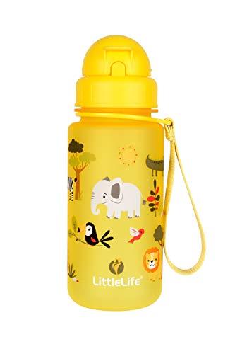 LittleLife Unisex-Youth Water Bottle-Safari, 400ml Children's, Yellow, One...