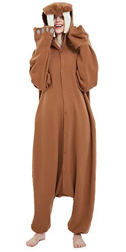 Walrus Onesie Adult Animal One Piece Cosplay Pajamas Costume for Women Men L