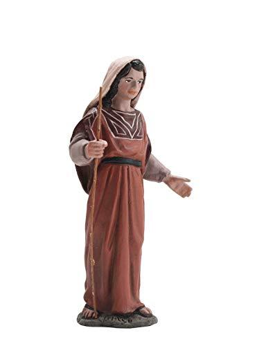Triciclo Editores Figura Belen J.L.Mayo Serie 11 cms. Pastora rebaño con Vara - BEL107