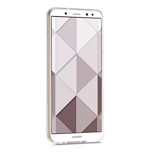 kwmobile Huawei Mate 10 Lite Hülle - Handyhülle für Huawei Mate 10 Lite - Handy Case in Glory Mix Marmor Design Rosegold Weiß Altrosa - 2