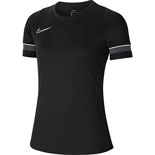 Nike Dri-Fit Academy 21, Maglia Manica Corta Donna, Nero/Bianco/Antracite/Bianco, M