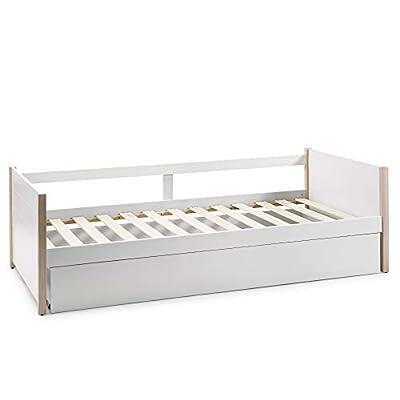 DIMENSIONES: 200 cm (Largo), 98,5 cm (Ancho) y 62 cm (Alto). Hueco superior para colchón de 90x190 cm y hueco inferior para colchón de 90x180 cm. DIMENSIONES INTERIORES: 192 cm de Largo y 92 cm de ancho. MATERIALES: Fabricado con MDF de gran calidad ...