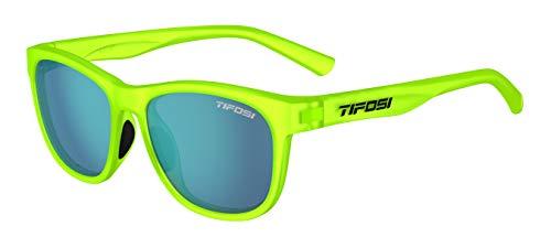Tifosi Optics Swank Sunglasses (Satin Electric Green/Smoke Bright Blue lenses)