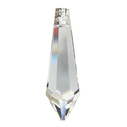 ASFOUR Kristall Birnel 50mm 4 Stück - Regenbogenkristall - Feng Shui - Esoterik - Fensterschmuck - 30% Pbo Bleikristall - Weihnachtsschmuck - Kronleuchter Behang - Kristall Spitze
