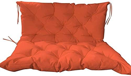 CIN&GO Cojín para Asiento de Banco de jardín con Respaldo, Funda de cojín para sofá, colchón Impermeable para Banco de Interior y Exterior de 2-3 Asientos