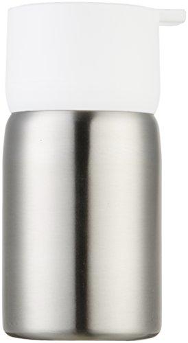 AmazonBasics - Dosificador de jabón, acero inoxidable, Blanco