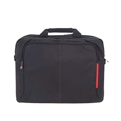 Ge-Store, borsa a tracolla in tela per computer portatile da 14 pollici e 15,6', motivo a pois rossi Come da immagine 15-inch