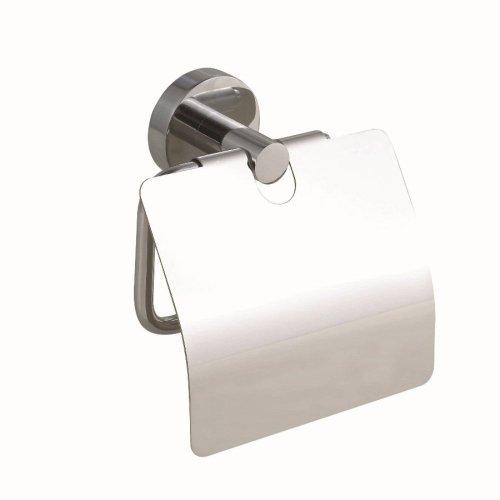 Nie Wieder Bohren Smooz WC-Papierrollenhalter mit Deckel, verchromt, inkl. Klebelösung, hohe Haltekraft (bis 6kg), 130mm x 145mm x 54mm