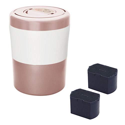 脱臭フィルターセット生ごみ減量乾燥機 島産業 PCL-33-PGW パリパリキューブライトアルファ ピンクゴールド&脱臭フィルターセット