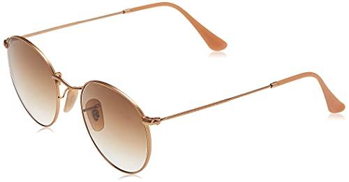 Ray-Ban Unisex Round Metal Sonnenbrille, Gold (Gestell: Gold, Gläser: braun Gradient 112/51), Medium (Herstellergröße: 50)