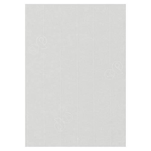 50 Stück - Artoz Serie 1001 Papier Bogen gerippt - 100g/qm - DIN A5, 210 x 148mm, hochwertig, ivory