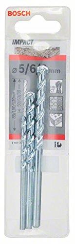 Bosch 1 609 200 204 - Juego de 3 brocas para piedra CYL-1-5; 6; 8 mm (pack de 3)