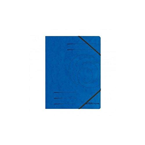 Eckspanner A4, Herlitz, Colorspan-Karton, blau, 20 Stück