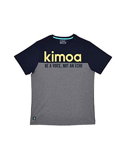 KIMOA Camiseta Alta Lake Blue, Unisex Adulto, Azul, L