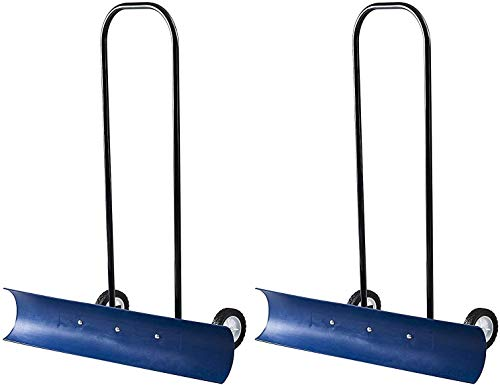 Review Of The Snowcaster 30SNC 36-Inch Bi-Directional Wheeled Snow Pusher, Blue (Pack of 2)