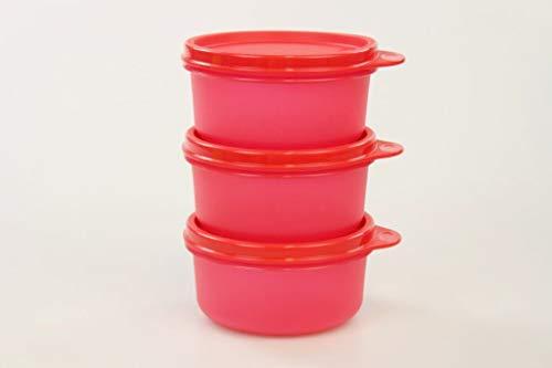 TUPPERWARE Julchen rot Kühlschrank 200 ml (3) Dose Box Behälter 31212