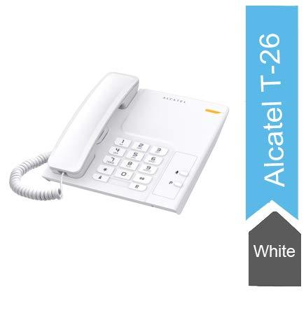 Alcatel T-26 Corded Landline Phone(White)