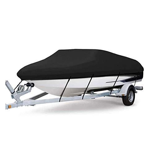LDIW Fundas para Barcos, 600D para Trabajo Pesado Paño de Oxford de Grado Marino Impermeable a Prueba de Rayos UV con Revestimiento de PVC Cubierta para Botes Trailerable,21to24ft
