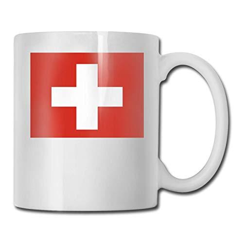 Kaffeebecher Schweizer Flagge Beste Geschenkidee, lustige Keramik weiße Kaffeetasse Neuheit Teetasse