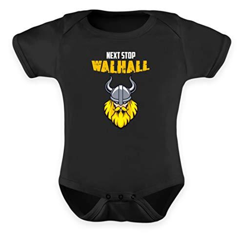 Next Stop Walhall - Body pour bébé Viking - Noir - 12-18 mois