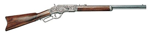 Denix Replica Winchester Grau-metallf graviert mit Holzschaft Gewehr