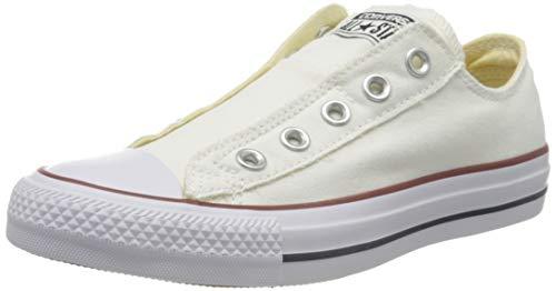Converse Ctas Slip On Ox 015710-550-3, Unisex - Erwachsene Sneaker, Weiß (Blanc Optical), EU 36