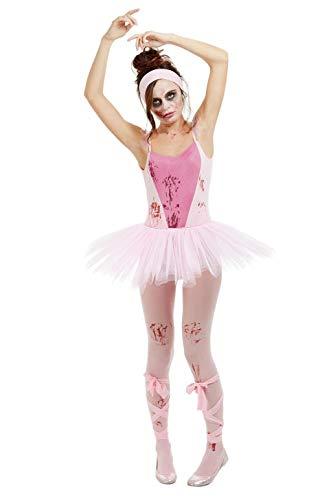 Smiffys 50939S Zombie - Disfraz de bailarina para mujer, talla S, color rosa