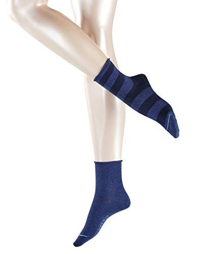 ESPRIT Damen Socken Sparkling Diamond 2er Pack - Baumwollmischung, 2 Paar, Blau (Marine 6120), Größe: 39-42
